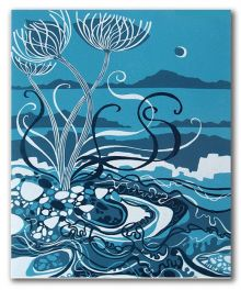 Moonlit Shoreline by Liz Myhill