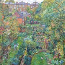 View of Backgardens with Self Portrait by Melissa Scott-Miller NEAC RBA RP