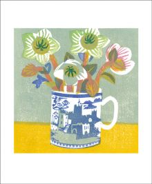Lenten Roses Woodblock print by Matt Underwood