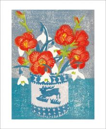 Japonica and Snowdrops by Matt Underwood