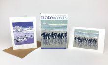 Snowy Beach Kings & Flocks by Night Notecards  from prints by Lizzie Perkins