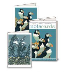 Puffins/Whooper Swans Notecards by Robert Gillmor