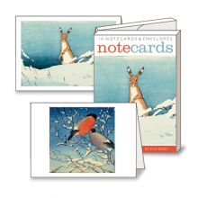 Hare in Snow / Bullfinches Prints by A W Seaby