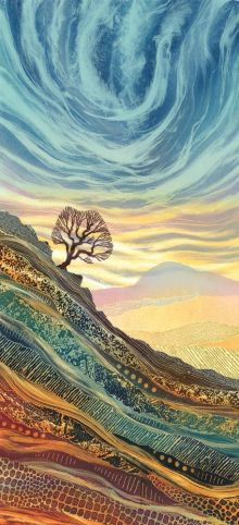 On the Edge greetings card By Rebecca Vincent