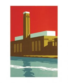Tate Red' linocut by Paul Catherall