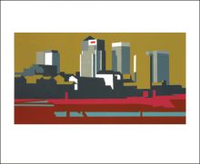 Canary Olive linocut by Paul Catherall