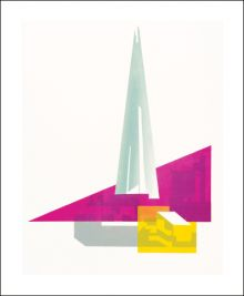 Shard Pink by Paul Catherall Greeting Card