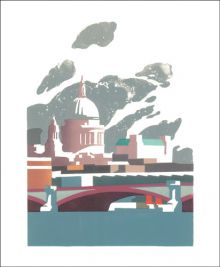 St Paul's Linocut by Paul Catherall
