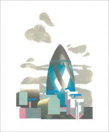 Gherkin II Linocut by Paul Catherall