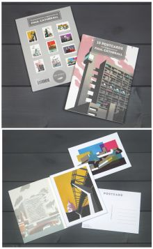 Postcard book by Paul Catherall - containing 10 different postcards from original prints