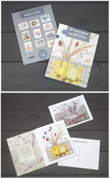 NEW Postcard Book (watercolours) by Angie Lewin 10 different postcards from original watercolours