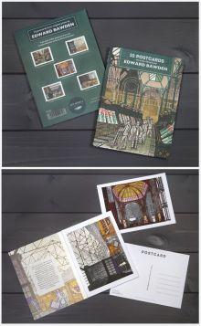 London Markets postcard book by Edward Bawden