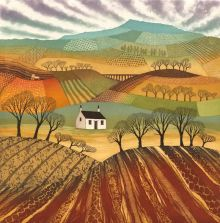 Plough the Fields greetings card By Rebecca Vincent