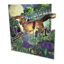 SHELLY PERKINS DIE-CUT NIGHT FOX GREETINGS CARD
