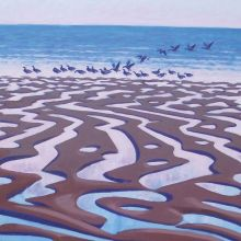 Low Tide Brentsby Richard Allen SWLAArt Greeting Card, Oil on Canvas