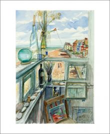Crag Path from Lookout Watercolour by Richard Bawden
