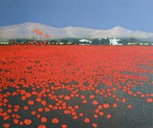 Red Haze GREETING CARD BY PHIL GREENWOOD