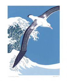 Wandering Albatross Linocut by Robert Gillmor