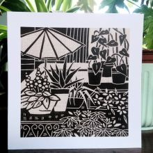Roof Garden - Gail Kelly Algan Arts Greeting Card