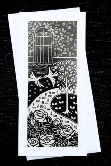 Rose Garden Greeting Card by Algan Arts