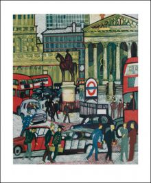 The Royal Exchange, 1975 Linocut by Rupert Shephard (1909 - 1992)