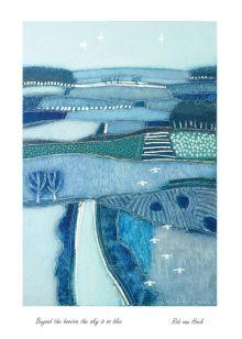 Beyond the horizon the sky is so blue By Robin van Hoek