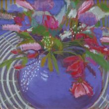 Flowers on the Garden Table by Sue Campion RBA