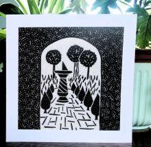 Secret Garden - Algan Arts Gail Kelly Greeting Card