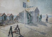 ERIC RAVILIOUS Bathing Machines, Aldeburgh|1938