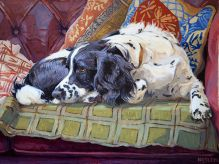 ANDREW HASLEN Holly on the Sofa