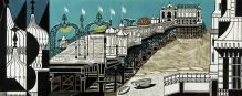 EDWARD BAWDEN Brighton Pier (linocut on paper)|1958