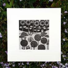 Summer Garden Linen Print by Gail Kelly Algan Arts