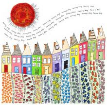 Sunny Day Terrace - Limited Edition Print by Fiona Willis