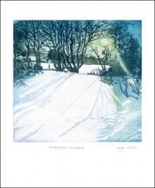 Moonlight Shadows  Etching by Sally Winter