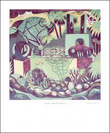 Barbara Hepworth's Garden Relief print by Sarah Young