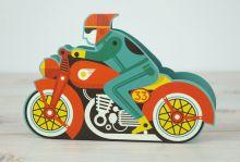 Motorbike Die cut motorbike by Tom Frost