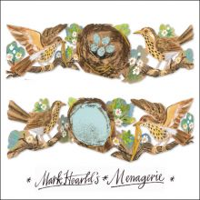 Nest collage by Mark Hearld