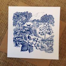 The Apple Tree - greetings card by Celia Hart