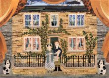 The Brontë Family at Thornton Parsonage (birthplace of the Brontë sisters) BY Amanda White