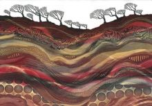 The Heart of the Earth Giclee print from original monotype by Rebecca Vincent