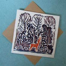 The roe buck at sunset Greeting Card by Celia Hart