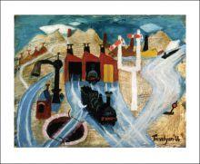 Loco Sheds, 1944 by Julian Trevelyan