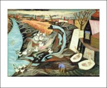 Low Tide, Durham Wharf 1950  Julian Trevelyan (1910-1988)