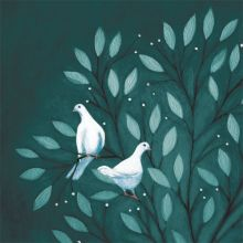 Two Doves Greeting Card by Ruth Molloy