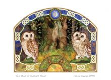 Two Owls as Sentinels Stood By Valerie Greeley
