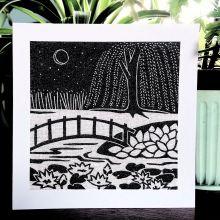 Water Garden - Algan Arts Gail Kelly Greeting Card