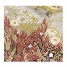 Summer linoprint Greeting Card by Annie Soudain