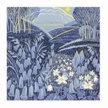 Spring linocut Greeting Card by Annie Soudain