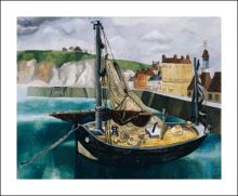 A Fishing Boat in Dieppe Harbour, 1929 Christopher Wood (1901-1930)