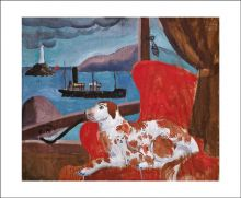 China Dog in a St. Ives Window by Christopher Wood